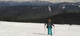 Carey Taylor Le Prince Snowshoeing Le Semnoz
