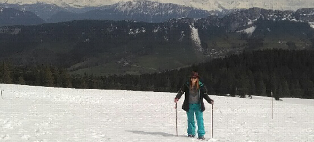Snowshoe Louboutins in the French Alps!