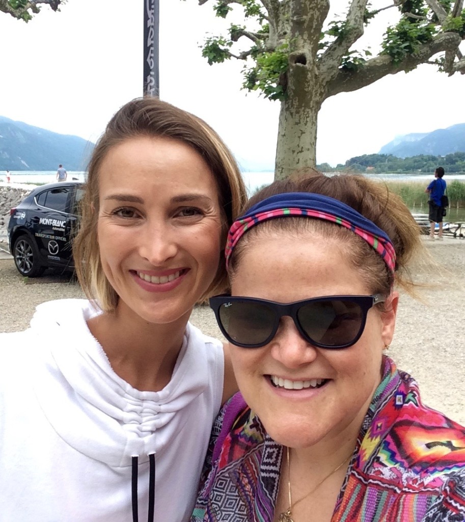 Julie Dumoulin, founder of HappynGood and Carey Taylor- Le Prince, Carey out of the City at BeFit aix les bains, France